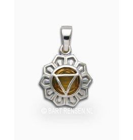 Solar Plexus chakra pendant - silver