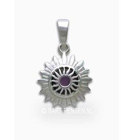 Crown chakra pendant - silver