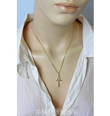 Ankh of Isis pendant - 14 crt gold - crossed right