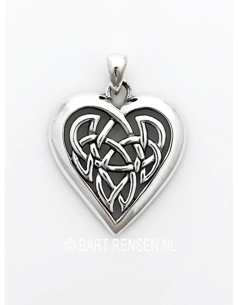 Celtic Heart pendant - sterlingl silver