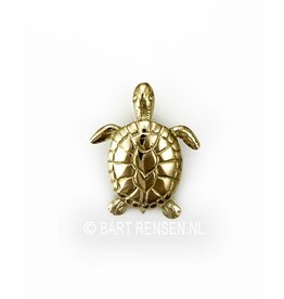 Turtle pendant - gold