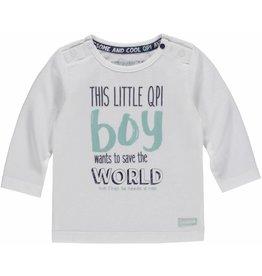 QUAPI NEWBORN BABY LONGSLEEVE NAVID WHITE
