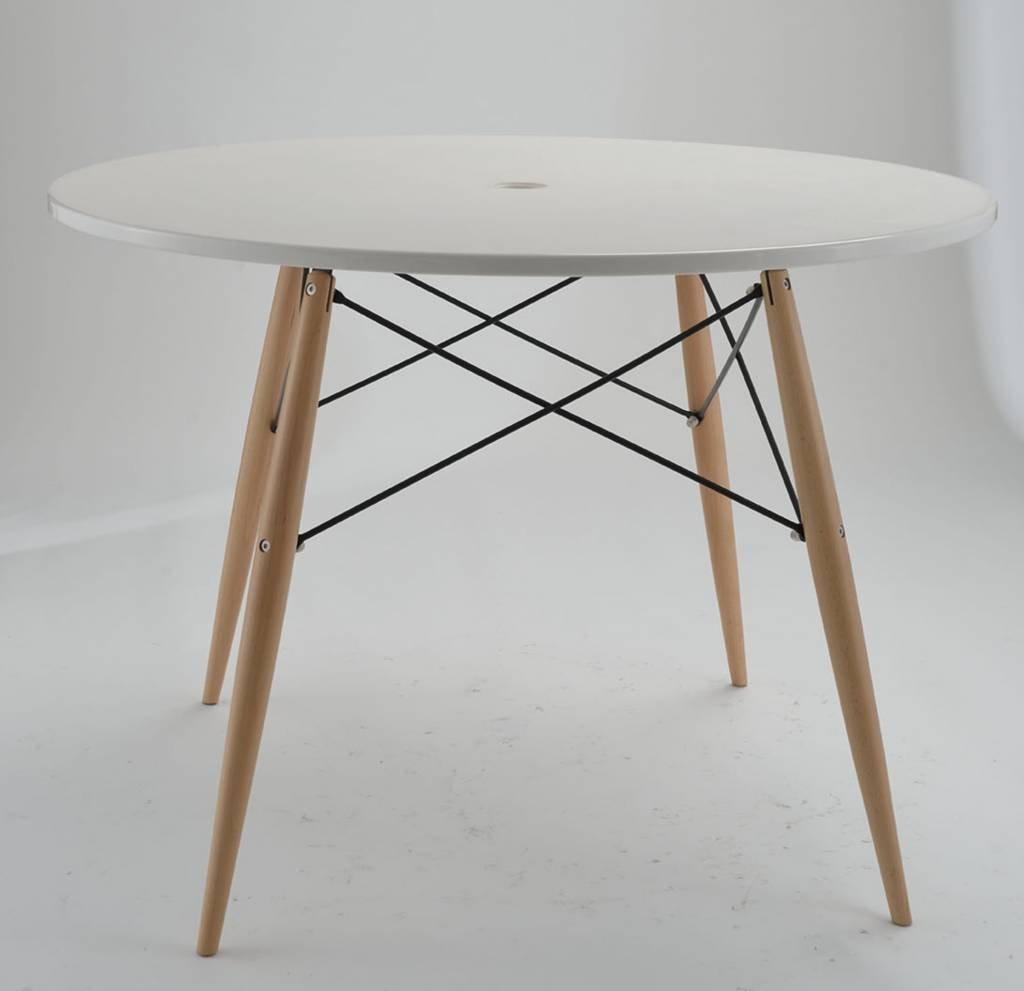 Mas ronde tafel met houten poten   officesit is gespecialiseerd in ...