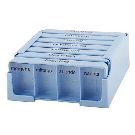 Pilulier semaine Medi-7, 4 cases par jour