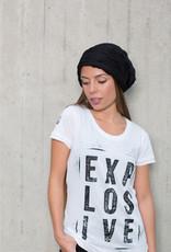 Girls shortsleeve Shirt Explosive white