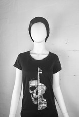 Damen T-Shirt Silver Violin