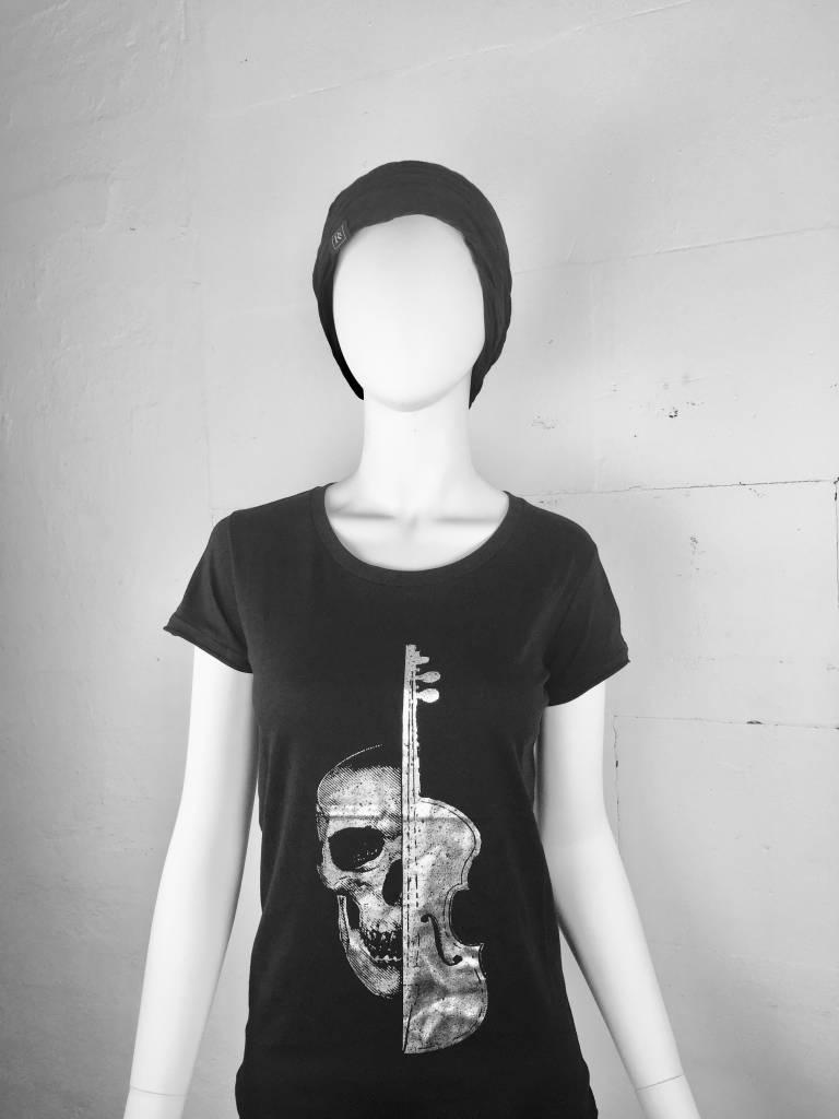 Damen T-Shirt Silver Violin