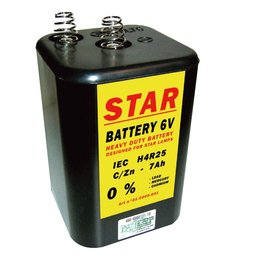 Blokbatterij 4R25 6V STAR
