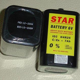 Blokbatterij 4R25 6V STAR voor werflichten