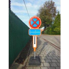 Temporarily non parking sign - PVC + reflective film