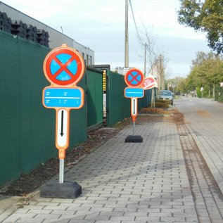 Temporarily non parking sign - PVC + reflective film