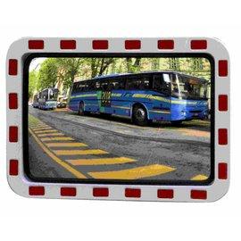 Miroir de traffic 600 x 800 mm rouge/blanc