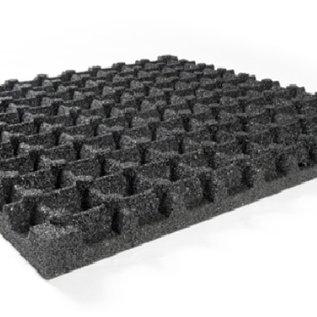 RUBBER SAFETY TILE Black 100 x 100 x 7.5 cm