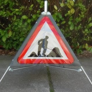Three sided traffic sign workman A31