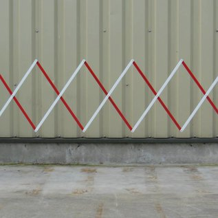 Foldable fence 3 m Red/white