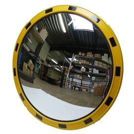 Industriële verkeersspiegel (Rond) 800 mm - geel/zwart kader