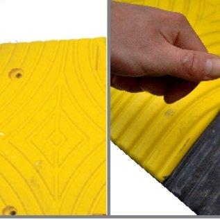 Verkeersdrempel 'SLOWLY' - 5 cm - voor fabrieksterreinen en parkings