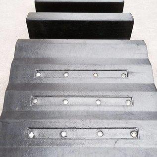 Kabelbeschermer 30 X 85 X 10 cm - 2 sleuven + 24 reflecterende kattenogen