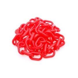 Rode fluoricerende polyetheleen ketting van 10 meter, Ø 8 mm