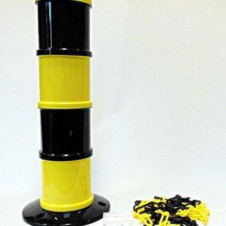 Balise modulaire Jaune / Noir Ø 200 mm 5 m chaîne