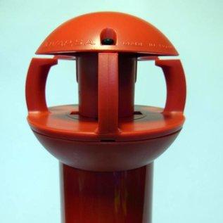 Aluminum pole 97 cm x Ø 60 mm, 4 hooks + pedestal with 2 reflectors