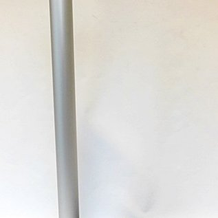 Mât en aluminium rétractable avec la couleur de la bande de barrière noir / argent 3 m.