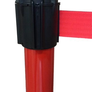 Red lacquered aluminum post strap Red 3m x 50mm beacon base