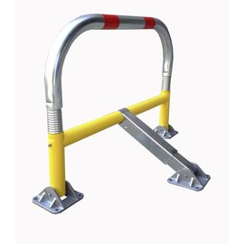 Parking barrier with springs and cylindrical safety lock 970 x 405 x 650-Ø 60 mm