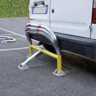 Parkeerbeugel met veren en cilinderslot 970 x 405 x 650 -Ø 60 mm