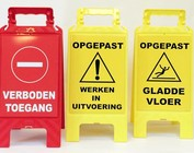 Foldable warning beacons