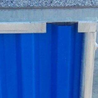 Clôture de chantier type Bruxelles - bleu/jaune