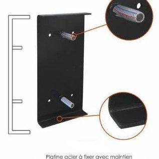 Fixatieplaat rubbere stootblok bescherming 500 x 250 x 10 mm