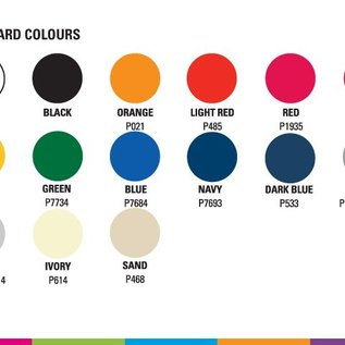 Zijwand 4m kleur