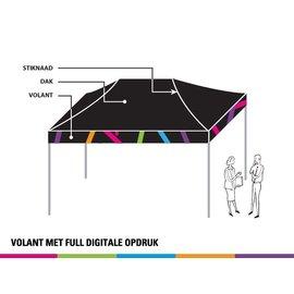 4,5x3M TENT - VOLANT MET FULL DIGITALE OPDRUK