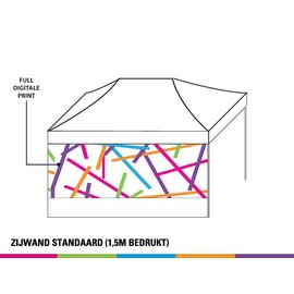 Zijwand 4,5m - 2/3 Full colour