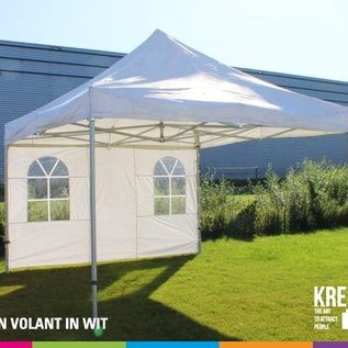 4x4M TENT -ROOF AND VALANCE WHITE