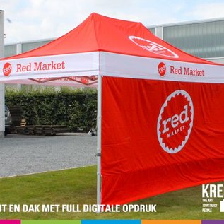 4,5x3M TENT - ROOF AND VALANCE FULL COLOUR PRINTED