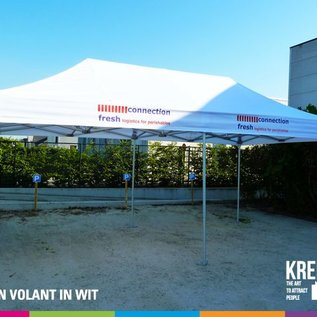 6X3M TENT - ROOF AND VALANCE WHITE
