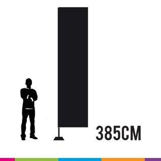 Beachvlag square 385 cm x 85 cm. Doek en mast uit aluminium 25 mm (prijs voor 4 stuks)