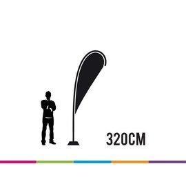 Vlag drop 320 cm X-strong fiber mast
