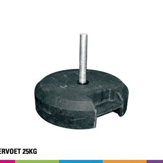 Rubbervoet 25KG (Onbreekbaar) incl verticale steun