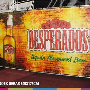 Spandoek - heras banner (340x175cm)