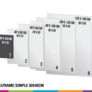 Textielframe simple 30x40cm. Frame + doek (Prijs 4 sets)