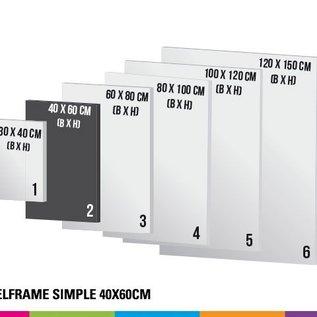 Textielframe simple 40x60cm (Prijs 4 sets)
