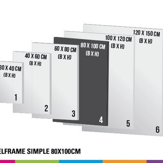 Textielframe simple 80x100cm - Frame + doek (Prijs 4 sets)