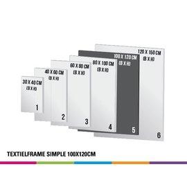 Textielframe simple 100x120cm