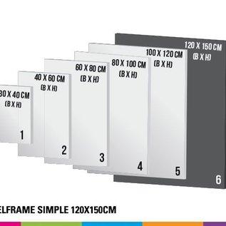 Textielframe simple 120x150cm. Frame + doek (Prijs 4 sets)