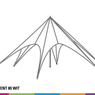 Startent 80 (17M diam) - Wit - Velcro