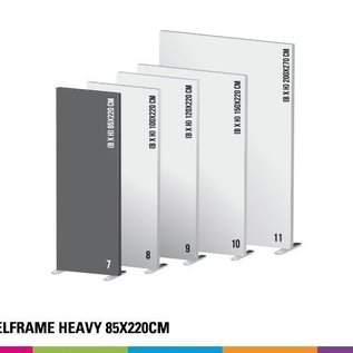 Textielframe heavy 85x220cm. Frame + doek (Prijs 4 sets)
