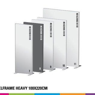 Textielframe heavy 100x220cm. Frame + doek (Prijs 4 sets)